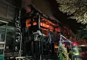 Incendiu puternic la un restaurant din Galaţi - VIDEO