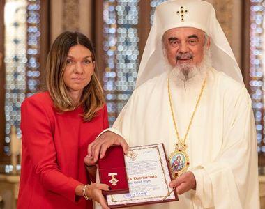 Simona Halep, premiată de Patriarhul Daniel! Românca, printre puținele jucătoare de...