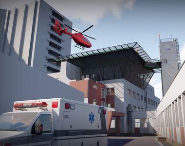 Heliportul Spitalului Universitar, premieră medicală pentru România