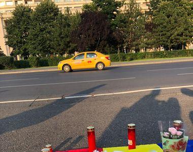 Proteste în Piața Victoriei pentru crimele din Caracal! Ce a apărut pe asfalt, în jurul...