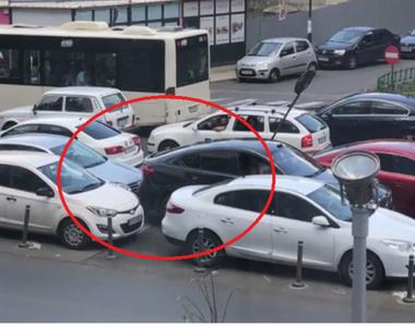 Gestul halucinant al unui șofer din București după ce i-a fost blocată mașina! Martorii...