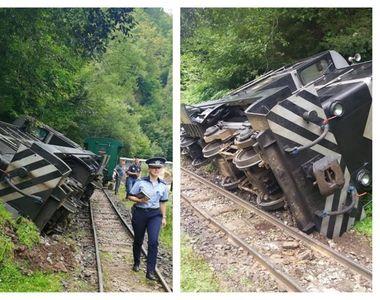 VIDEO | Locomotiva mocăniţei de la Vişeu a deraiat! Șase turişti au fost răniţi uşor