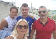 Copiii Ruxandrei Dragomir fac sport de mare performanță! Băiatul Filip joacă fotbal la Viitorul lui Hagi, fata Diana practică tenisul la nivel înalt FOTO