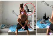 """Momentul șocant în care un copil de trei ani cade în cap dintr-un pat supraetajat: """"Rușine"""""""