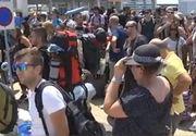 Sute de români blocaţi pe o insulă din nordul Greciei. Feriboturile s-au stricat şi au izbucnit incendii