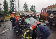 Accident pe DN1, la ieşirea din Vlădeni spre Braşov! Patru persoane sunt rănite, dintre care una este în stop cardio-respirator