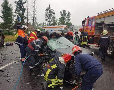 Accident pe DN1, la ieşirea din Vlădeni spre Braşov! Patru persoane sunt rănite, dintre...