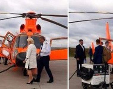 VIDEO | Reacția Vioricăi Dăncilă după ce a ajuns în Moldova cu elicopterul