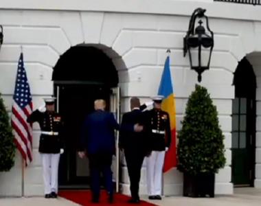 Președintele Klaus Iohannis, primit de Donald Trump la Casa Albă