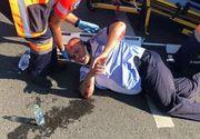 VIDEO   Un polițist este spulberat de un șofer beat, în Vadu Izei