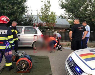 Un șofer băut a spulberat o femeie, apoi a trecut peste ea cu mașina