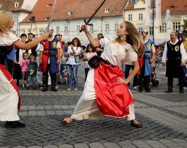 VIDEO | Festival medieval la Sibiu: Atmosferă de poveste