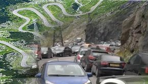 VIDEO | Haos pe Transfăgărășan. Mii de turiști au stat la niște cozi cum doar pe DN1 mai vedem
