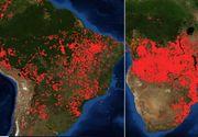 Africa arde. Imagini șocante făcute publice de NASA