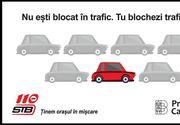 """Val de critici și ironii la adresa STB, după o postare pe Facebook cu mesajul: Nu ești blocat în trafic. Tu blochezi traficul!"""""""