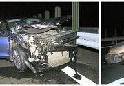 Accident înfiorător pe autostrada Transilvania. Un tânăr în stare extrem de gravă după impactul devastator