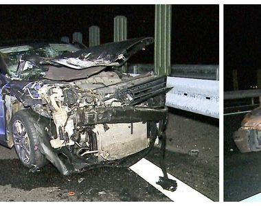 Accident înfiorător pe autostrada Transilvania. Un tânăr în stare extrem de gravă după...
