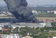 VIDEO | ZI DE FOC pentru pompierii din Capitală. Incendiu uriaș în nordul Capitalei și o explozie puternică la o fabrică