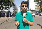 VIDEO EXCLUSIV   Incendiul din Capitală se manifestă cu violență pe 10.000 de metri pătrați. Zeci de pompieri luptă cu flăcările. Petre Nichita transmite de la fața locului