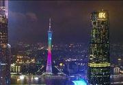 VIDEO   Spectacol grandios în sudul Chinei, unde aproape o mie de drone dotate cu instalații luminoase, au strãlucit în noapte
