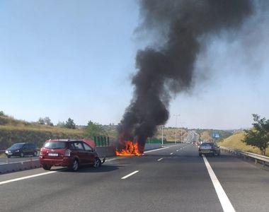 Traficul rutier este blocat pe Autostrada Soarelui, pe sensul către Bucureşti, în zona...