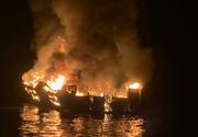 Cel puţin 30 de oameni sunt blocaţi pe o ambarcaţiune în flăcări în largul coastei de sud a Californiei