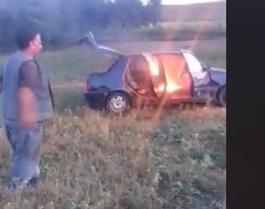 Gestul neașteptat al unui cioban din Cluj. Și-a incendiat mașina pentru a primi ajutor...