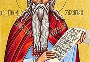 Sărbătoare mare joi. Sfântul Zaharia, tatăl Sfântului Ioan Botezătorul, prăznuit în această zi