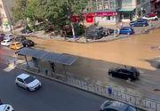VIDEO | Avarie la o magistrală de apă în sectorul 2 din Bucureşti! Bulevardul a fost inundat în doar câteva minute