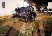 Un mort şi trei răniţi, între care doi copii de 3 şi 6 ani, după ce maşina în care se aflau a ieşit de pe şosea şi s-a izbit de o casă