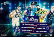 Cel mai mare turneu de baschet din România! Echipe grele ale baschetului european vin la Cluj: Fenerbahce Beko, Partizan Belgrad NIS și Mornar Bar