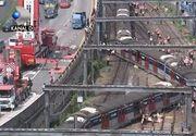 VIDEO | Panică după ce un tren a deraiat și s-a rupt în două