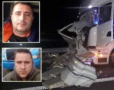 Bogdan şi Nicu au murit spulberaţi de TIR pe A1! Cei doi reparau mașina pe banda de...