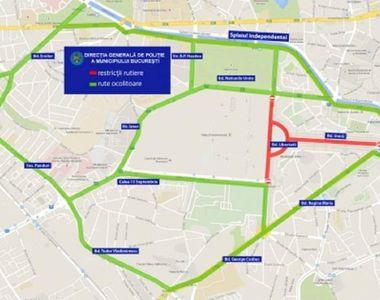 """Restricţii de trafic pentru """"Zilele Bucureştiului"""". Vezi care vor fi zonele..."""
