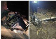 Mașină ruptă în bucăţi pe o şosea din Iaşi. Şoferul de 21 de ani, mort lângă maşină