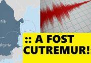 Cutremur în România. Seismul a avut o magnitudine de 3,1 pe Scara Richter
