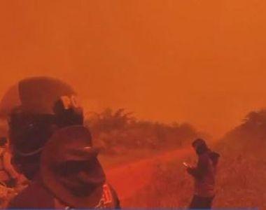 VIDEO | În Indonezia, ca pe Marte. Imaginile sunt spectaculoase