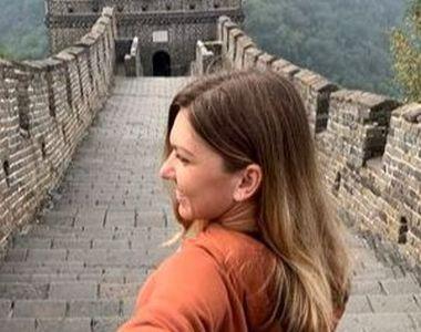 Simona Halep a deschis șampania la Marele Zid Chinezesc