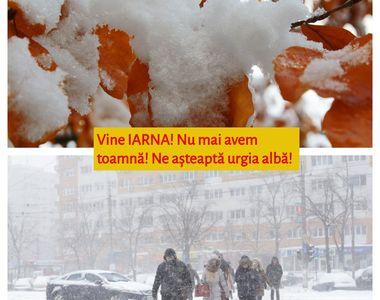 Vine IARNA! Nu mai avem toamnă! După vara din septembrie, ne așteaptă urgia albă!