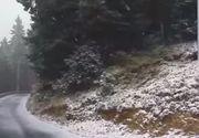 VIDEO   Iarna a venit peste România. Vezi care este locul cu primul strat de zăpadă