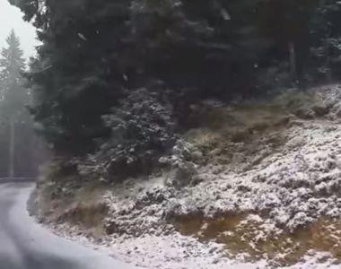 VIDEO | Iarna a venit peste România. Vezi care este locul cu primul strat de zăpadă