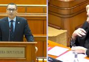 Viorica Dăncilă şi-a făcut cruce în timpul discursului lui Victor Ponta! Cum a răspuns premierul la atacurile din partea opoziției