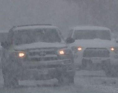 VIDEO | Zăpadă și ger năsprasnic în SUA. S-au întâmplat 100 de accidente și șoferii...