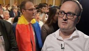 """Nebunie la întâlnirea """"cumpănașilor""""! Alexandru Cumpănașu a intrat la congres pe acordurile trupei AC/DC și și-a întrebat soția dacă îi e frică de pușcărie!"""