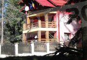 Imagini din PARADISUL SECRET al Vioricăi Dăncilă! Fostul premier are o vilă ROZ în Predeal! La balconul casei flutură steagurile României şi al Uniunii Europene! FOTO EXCLUSIV