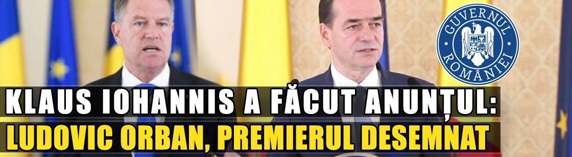 Ludovic Orban este noul premier al României!