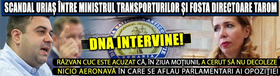 VIDEO | Scandal uriaș între ministrul Transporturilor și fosta directoare TAROM. Cei doi vor da explicații la DNA!