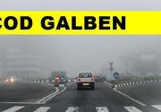 Atenție șoferi! Cod galben de ceaţă în municipiul Bucureşti şi în 17 judeţe