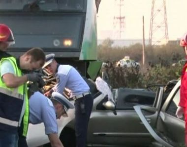 VIDEO | Imagini cutremurătoare de la locul tragediei din Dâmbovița. Mașina celor doi...