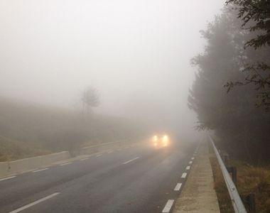 Cod galben de ceaţă în 26 de judeţe, joi dimineață